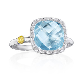 Crescent Embrace Sky Blue Topaz Fashion Ring (SR23102)