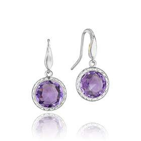 Crescent Embrace Amethyst Fashion Earrings  (SE15501)