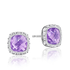 Crescent Embrace Amethyst Fashion Earrings  (SE24501)