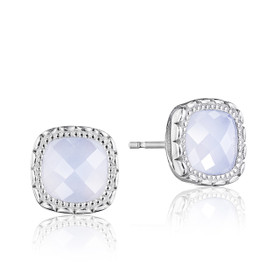 Crescent Embrace Chalcedony Fashion Earrings  (SE24503)