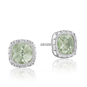 Crescent Embrace Prasiolite Fashion Earrings  (SE24512)