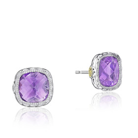 Crescent Embrace Amethyst Fashion Earrings  (SE24701)