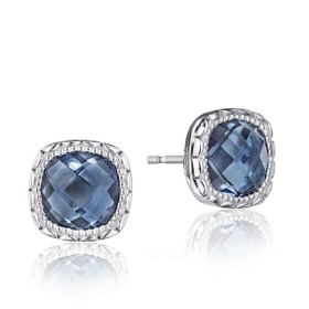 Crescent Embrace London Blue Topaz Fashion Earrings  (SE24533)