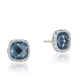 Crescent Embrace London Blue Topaz Fashion Earrings  (SE24733)