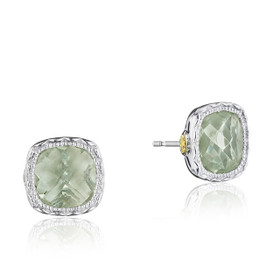 Crescent Embrace Prasiolite Fashion Earrings  (SE24712)