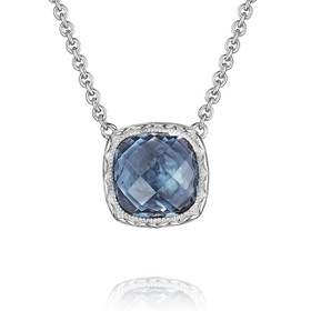 Crescent Embrace London Blue Topaz Fashion Necklace (SN23233)