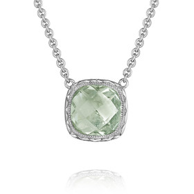Crescent Embrace Prasiolite Fashion Necklace (SN23212)