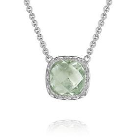 Crescent Embrace Prasiolite Fashion Necklace (SN23212)