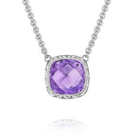 Crescent Embrace Amethyst Fashion Necklace (SN23201)
