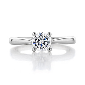 .90 Round Solitaire White Gold Engagement Ring (FG473)