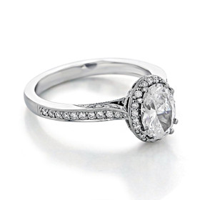 Tacori Dantela Moissanite Engagement Ring (2620OVSMP-M)