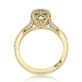 Tacori Dantela Moissanite Engagement Ring (2620RDSMPY-M)
