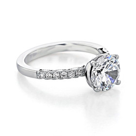 Tacori Coastal Crescent Moissanite Engagement Ring (P1042RD8FW-M)