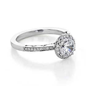 Tacori Coastal Crescent Moissanite Engagement Ring (P103RD65FW-M)