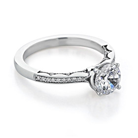 Tacori Coastal Crescent Moissanite Engagement Ring (P102RD65FW-M)