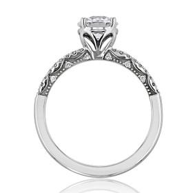 Tacori Coastal Crescent Moissanite Engagement Ring (P104RD65FW-M)