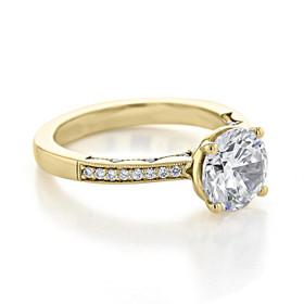 Tacori Coastal Crescent Moissanite Engagement Ring (P1022RD8FY-M)