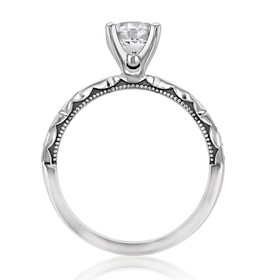 Tacori Sculpted Crescent Moissanite Engagement Ring (46-2RD65-M)