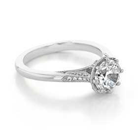 Simply Tacori Moissanite Engagement Ring (2653RD75-M)