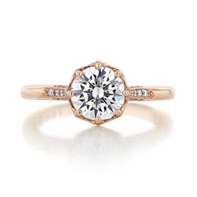 1.20 Ct. Round Moissanite Simply Tacori Rose Gold Pavé Engagement Ring (2653RD7PK-M)