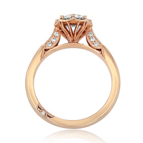 Simply Tacori Moissanite Rose Gold Engagement Ring (2653RD7PK-M)