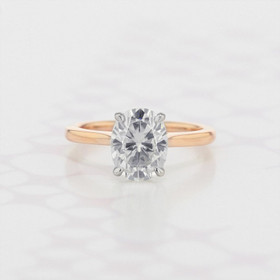 Solitaire Oval Shape Moissanite Engagement Ring (2006159)