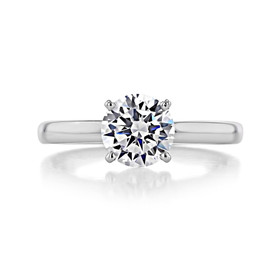 1 ct Round Solitaire White Gold Engagement Ring (SO56)