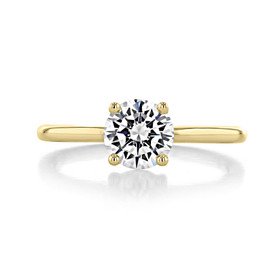 1 ct Round Solitaire Yellow Gold Engagement Ring (SO63-YG)