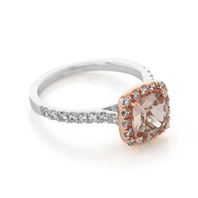 Rose Gold Morganite Engagement Ring (R829-4)