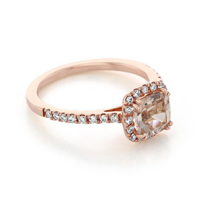 Rose Gold Morganite Engagement Ring (R848-4)