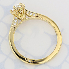 Simply Tacori Oval Shape Diamond Engagement Ring (2006250)