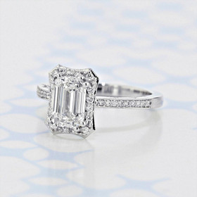 Tacori Coastal Crescent Emerald Shape Diamond Engagement Ring (2006422)