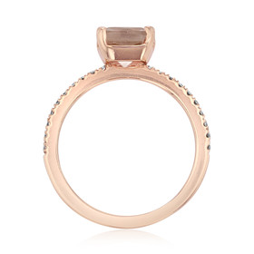 Rose Gold Morganite Engagement Ring (R855-4)