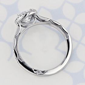 Tacori Sculpted Crescent Round Shape Lab Diamond Engagement Ring (2006318)