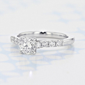 Gabriel NY Micro-Prong Round Shape Diamond Engagement Ring (2006221)