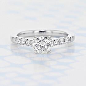Gabriel NY Micro-Prong Round Shape Diamond Engagement Ring (2006221)
