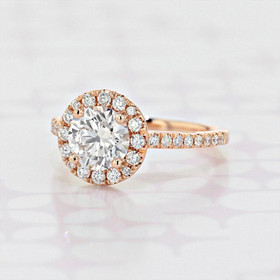 Gabriel NY Halo Round Shape Lab Diamond Engagement Ring (2006214)