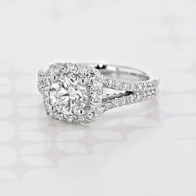 Gabriel NY Halo Round Shape Lab Diamond Engagement Ring (2006050)