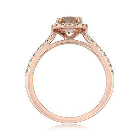 Rose Gold Morganite Engagement Ring (R868-4)