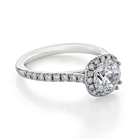 Lab Diamond Halo Engagement Ring (EV14-LD)