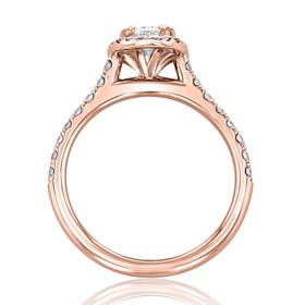 Rose Gold Halo Engagement Ring (EV14-OV-LD)
