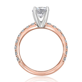 Rose Gold Micro-Prong Engagement Ring (CR190R-ED)