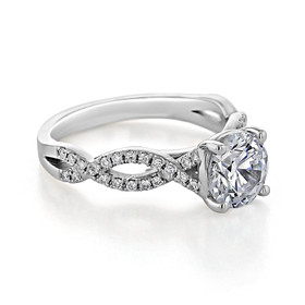 Micro-Prong Engagement Ring (MR3-ED)