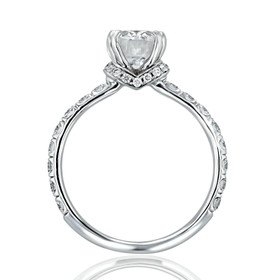 Oval Micro-Prong Lab Diamond Engagement Ring (CR198-LD)