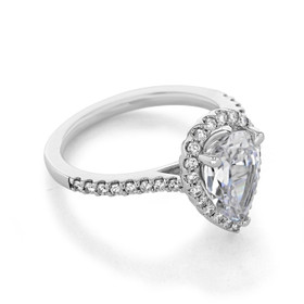 Halo Micro-Prong Engagement Ring (31-799)