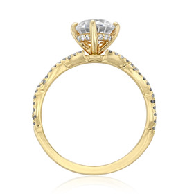 Twist Micro-Prong Engagement Ring (FG58)