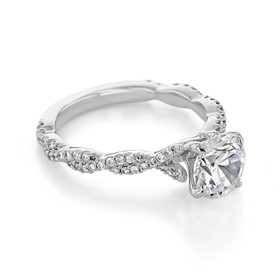 Twist Micro-Prong Engagement Ring (FG89)