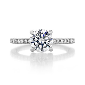 1.50 ct Round Micro-Prong White Gold Engagement Ring (FG91)