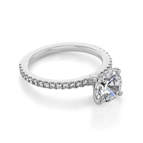 Micro-Prong Engagement Ring (FG91)