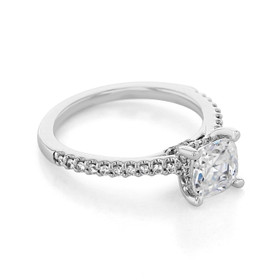 Micro-Prong Engagement Ring (FG529)